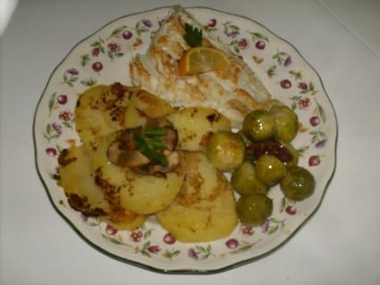 Morue fraîche grillée et ses légumes