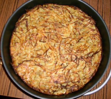 Paillasson de pommes de terre à l'oignon