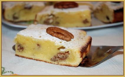 Brownie au chocolat blanc et noix de pécan