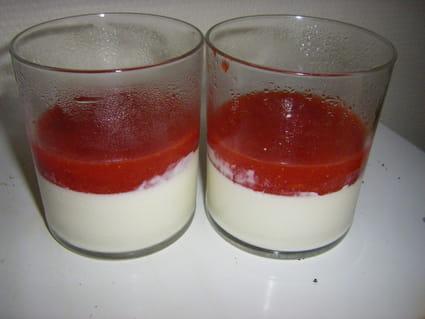Panna cotta aux fruits rouges