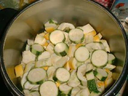 Salade de courgettes aux citrons confits