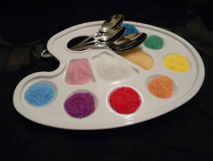 Sucres colorés et aromatisés