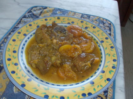 Tajine aux abricots secs