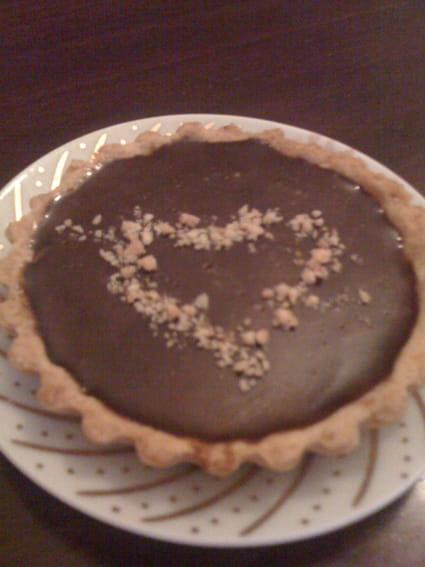 recette de tarte chocolat caramel la recette facile. Black Bedroom Furniture Sets. Home Design Ideas