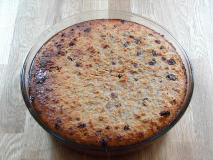 Pudding de pain aux raisins