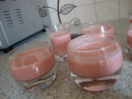 Crème glacée à la fraise