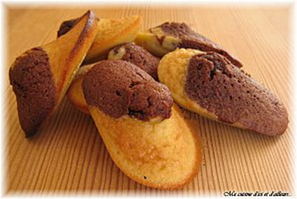 Madeleines marbrées choco-vanille