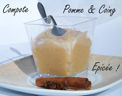 recette de compote pomme coing pic e la recette facile. Black Bedroom Furniture Sets. Home Design Ideas
