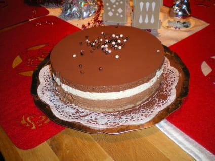 Gâteau aux trois mousses de chocolat