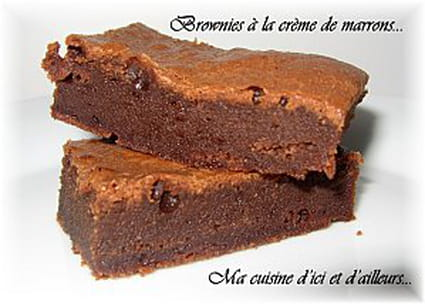 recette de brownies la cr me de marrons la recette facile. Black Bedroom Furniture Sets. Home Design Ideas