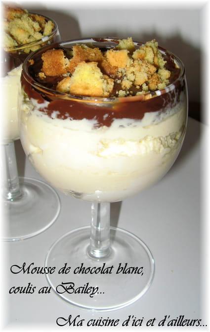 recette de mousse au chocolat blanc et coulis au bailey 39 s la recette facile. Black Bedroom Furniture Sets. Home Design Ideas