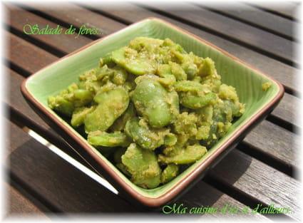 Recette de salade de f ves la recette facile - Cuisiner des feves seches ...