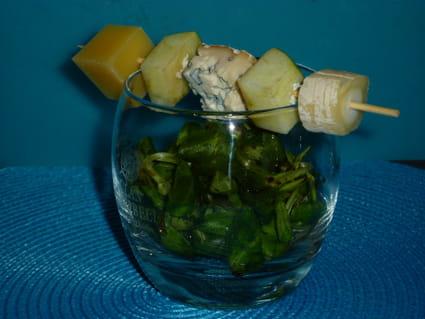 Brochette de fromage au pomme