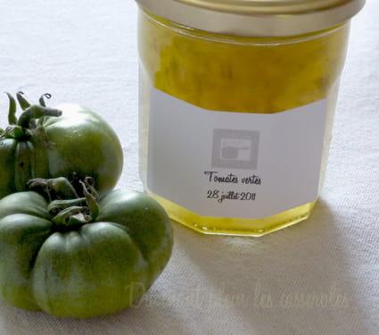 recette de confiture de tomates vertes au cognac la recette facile. Black Bedroom Furniture Sets. Home Design Ideas