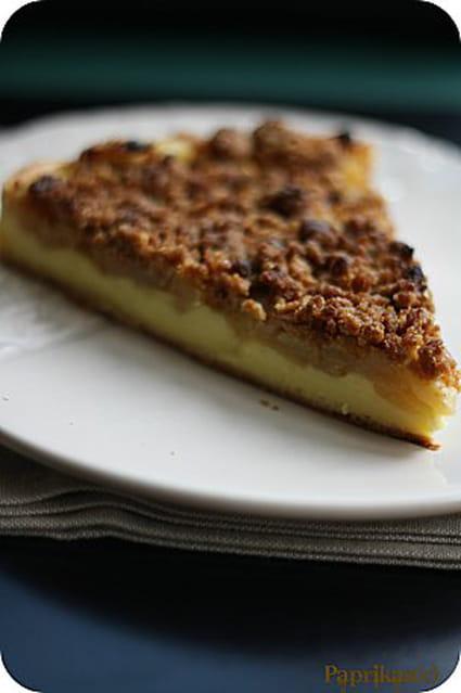 recette de tarte flan aux pommes et crumble sp culoos la recette facile. Black Bedroom Furniture Sets. Home Design Ideas