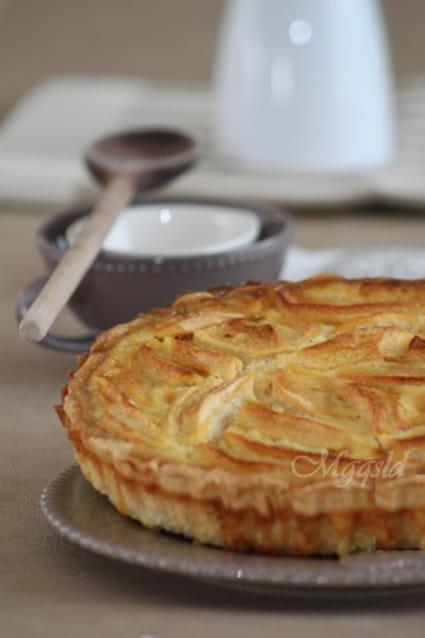 recette de tarte normande vanill e aux pommes la recette facile. Black Bedroom Furniture Sets. Home Design Ideas