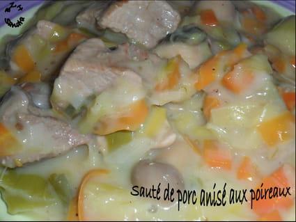 Sauté de porc anisé aux poireaux