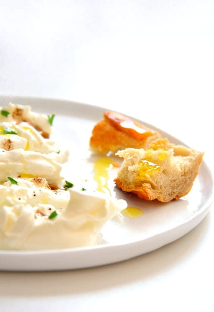 Carpaccio de mozzarella burrata
