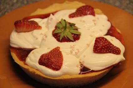 Tartelette aux fraises et crème de citron