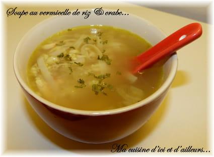 Soupe aux vermicelles de riz & crabe