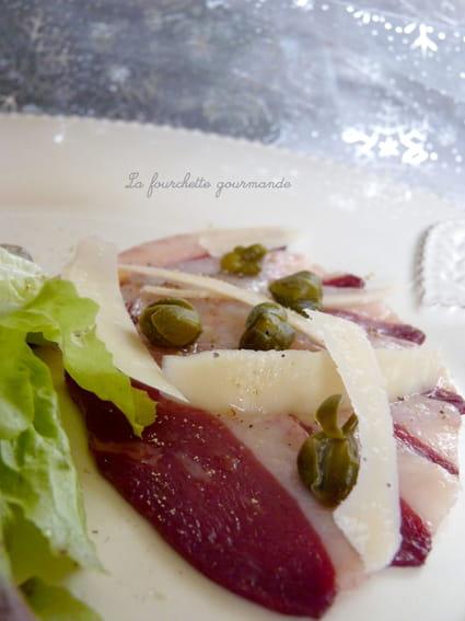 Recette de carpaccio de canard la recette facile - Cuisiner un filet de canard ...