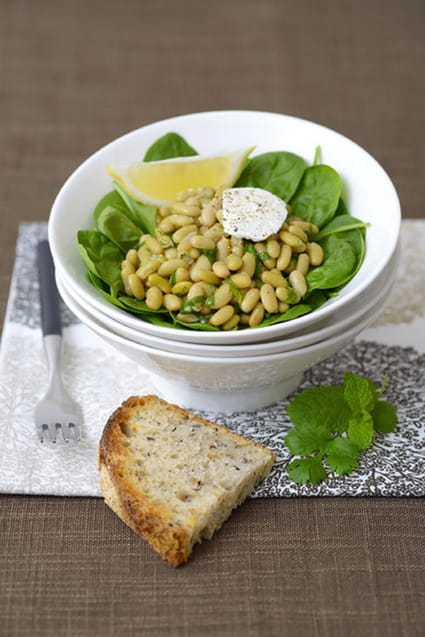 Recette de salade chaude de flageolets aux pices la - Cuisiner des flageolets ...