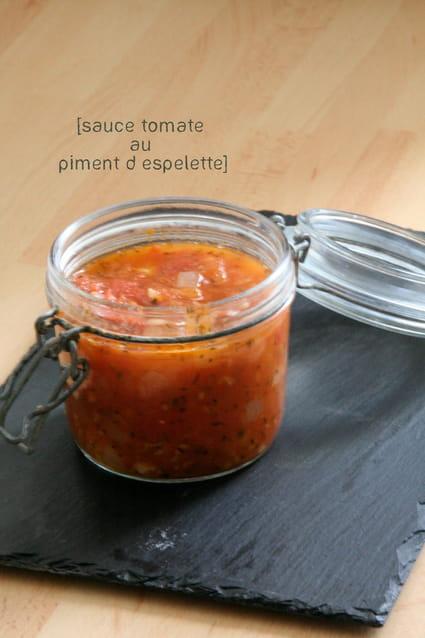 Recette de sauce tomate au piment d 39 espelette la recette for Sauce tomate cuisinee