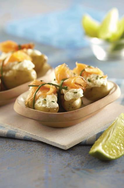 Recette de ratte du touquet et saumon fum en petits paquets la recette facile - Cuisiner la ratte du touquet ...