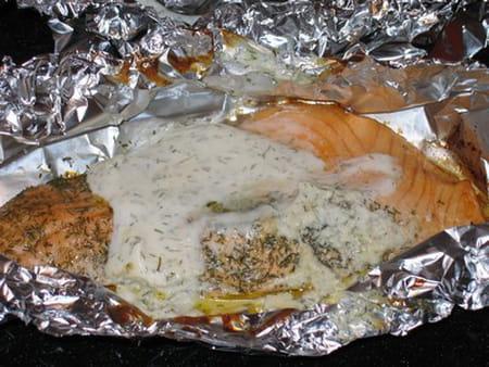 Papillotes de saumon citron aneth la recette facile - Papillote saumon four ...