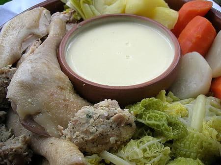 poule au pot sauce supr 234 me la recette facile