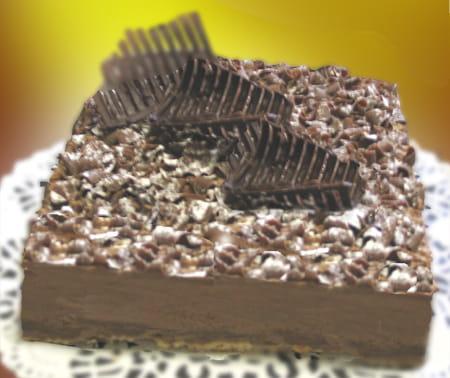 croustillant au chocolat la recette facile. Black Bedroom Furniture Sets. Home Design Ideas