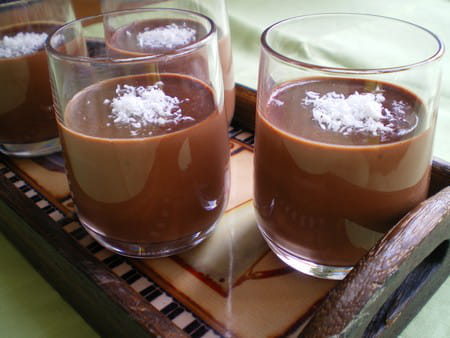 Panna cotta au chocolat et noix de coco la recette facile - Panna cotta noix de coco ...