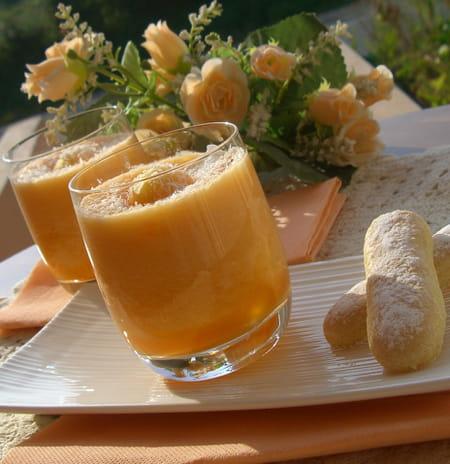 Verrine de melon la noix de coco la recette facile - Dessert de noel leger ...