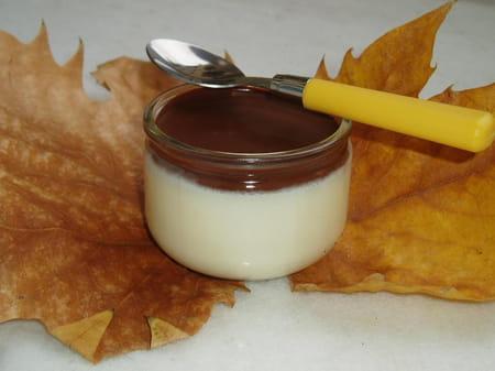 panna cotta au chocolat blanc et sauce au chocolat noir la recette facile. Black Bedroom Furniture Sets. Home Design Ideas