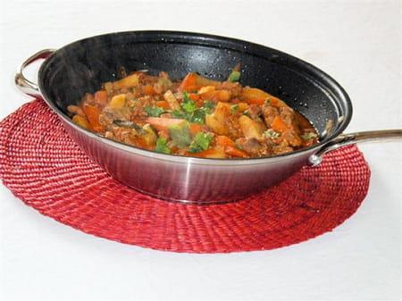Wok de filet mignon de porc au curry de l gumes la - Cuisiner filet mignon de porc ...