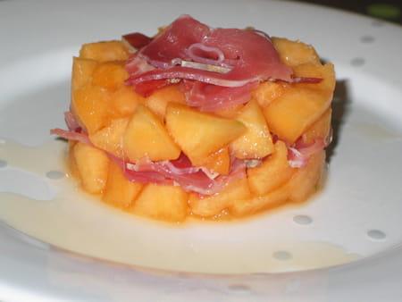 Tartare de melon et sa chiffonnade de parme la recette for Entree bonne et facile