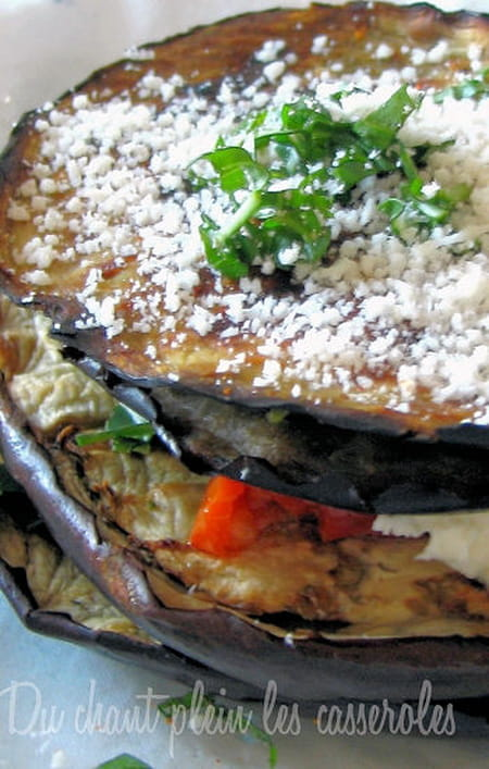 Mille feuille d 39 aubergines l 39 italienne la recette facile - Aubergine grillee a l italienne ...