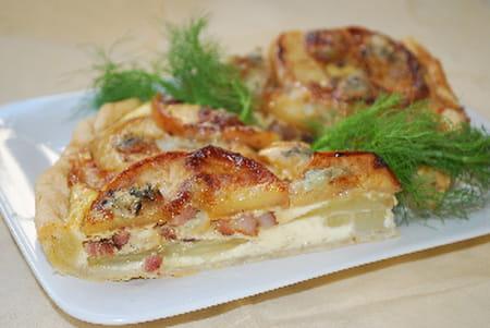 Tarte aux pommes fenouil et gorgonzola la recette facile - Cuisiner fenouil braise ...