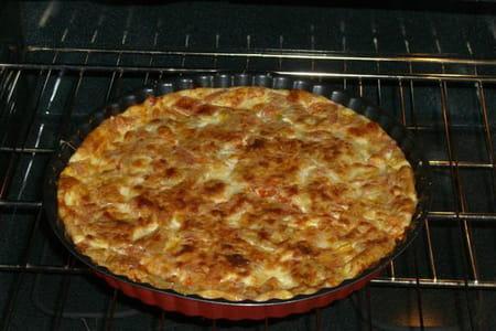 Quiche sans p te la tomate et la mozzarella la recette facile - Pate a la mozzarella ...