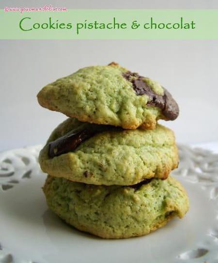 cookies la pistache et p pites de chocolat la recette facile. Black Bedroom Furniture Sets. Home Design Ideas