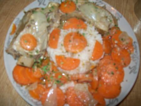 Tendrons de veau carottes en sauce la recette facile - Cuisiner tendron de veau ...