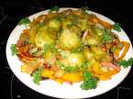 Choux de bruxelles aux poivrons jaunes la recette facile - Cuisiner chou de bruxelles ...