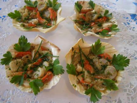 Coquilles saint jacques en salade la recette facile - Cuisiner des coquilles saint jacques ...