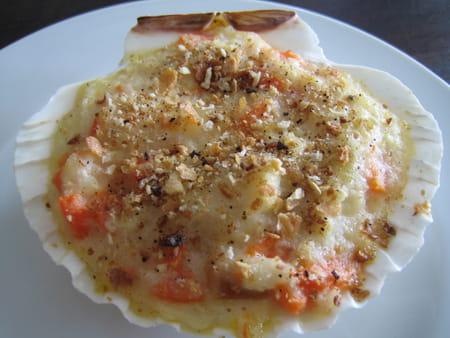 Petits gratins de la mer aux saint jacques la recette facile for Saint jacques cuisine