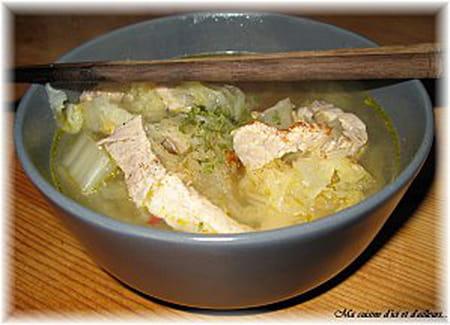 Soupe de porc au chou chinois la recette facile - Cuisiner du choux chinois ...