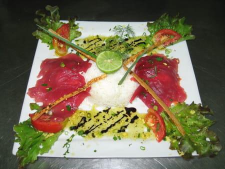 sashimi de thon rouge la recette facile. Black Bedroom Furniture Sets. Home Design Ideas