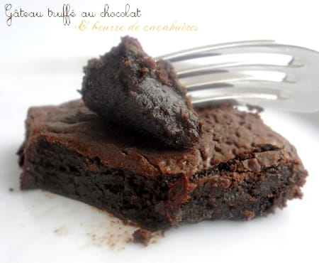 g teau truff au chocolat beurre de cacahu tes la recette facile. Black Bedroom Furniture Sets. Home Design Ideas