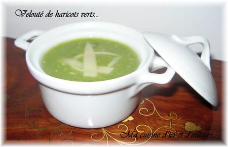 Velout de haricots verts la recette facile - Cuisiner haricots verts surgeles ...