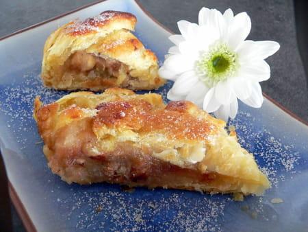 Feuillet aux pommes fruits secs et pices la recette facile - Feuillete aux pommes caramelisees ...