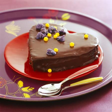 recette gâteau au chocolat saint valentin